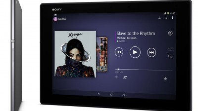 Sony Xperia Z2 Tablet front and side, black