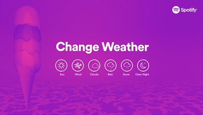 The result of a marriage between Spotify and AccuWeather - bringing everyone weather-inspired music...
