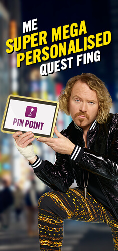 Keith Lemon is using Pin Point from Carphone Warehouse to get super mega personal with the world